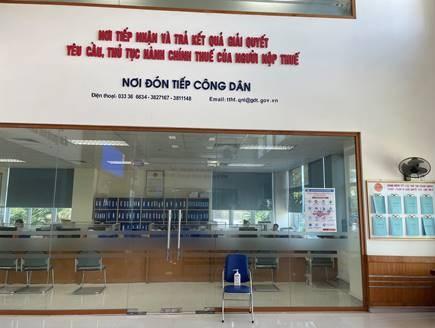 """Bộ phận tiếp nhận công văn và bộ phận """"một cửa"""" của Cục Thuế Quảng Ninh"""