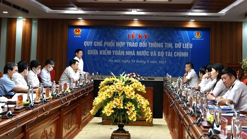 Bộ Tài chính và Kiểm toán Nhà nước phối hợp trao đổi thông tin, dữ liệu. Ảnh: KTNN